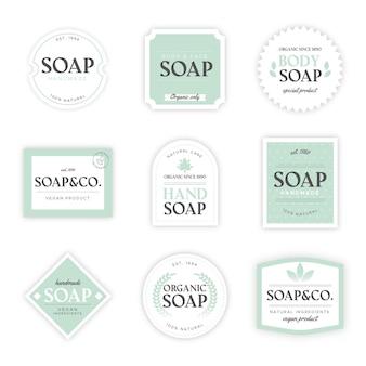 Pacote de diferentes rótulos de sabonete