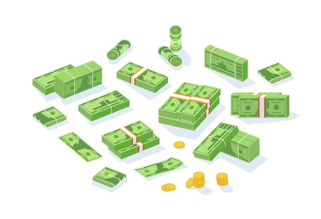 Pacote de dinheiro em espécie ou moeda