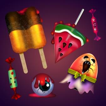 Pacote de doces do festival de halloween