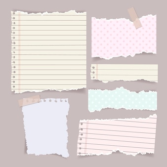 Pacote de efeito de papel rasgado realista