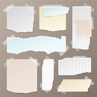 Pacote de efeito de papel rasgado