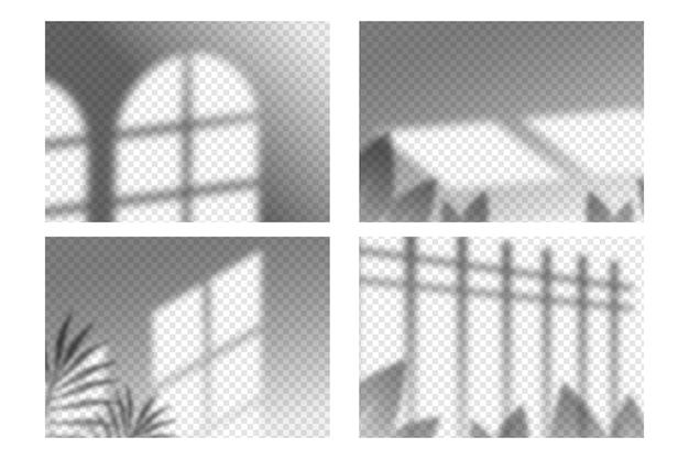 Pacote de efeitos de sobreposição de sombras transparentes