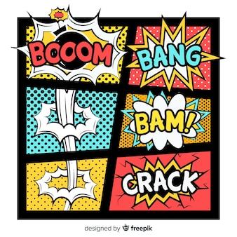 Pacote de efeitos sonoros em quadrinhos