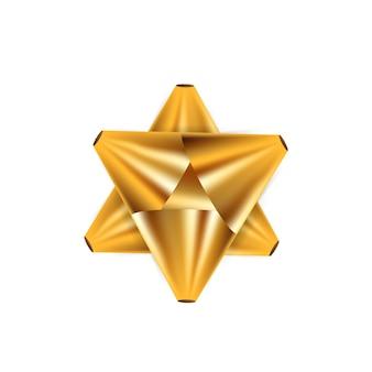 Pacote de elemento de decoração de fita de arco dourado