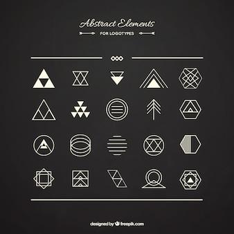 Pacote de elementos abstratos para logotipos