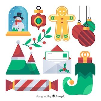 Pacote de elementos de decoração de natal