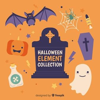 Pacote de elementos de halloween