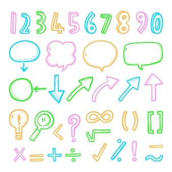 Pacote de elementos de infográfico escolar
