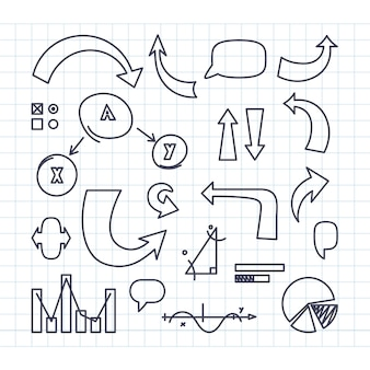 Pacote de elementos de infográfico para classes escolares
