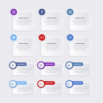 Pacote de elementos de infográfico
