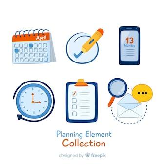 Pacote de elementos de planejamento adorável