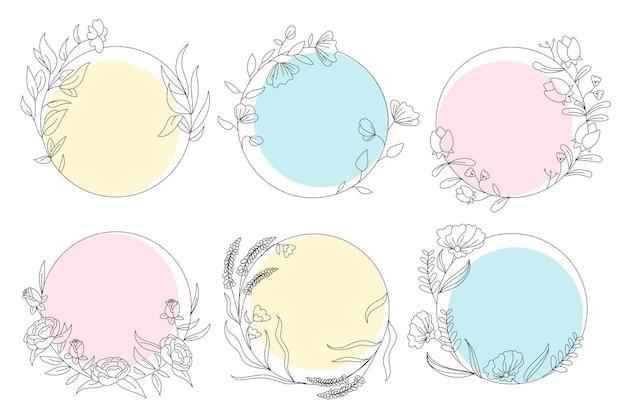Pacote de elementos decorativos desenhados à mão