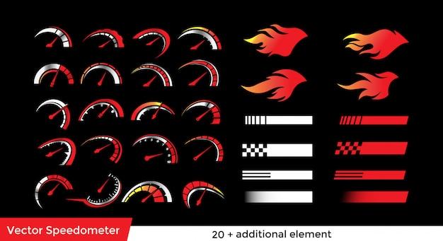 Pacote de elementos do velocímetro