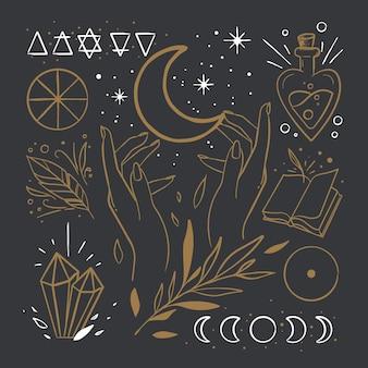 Pacote de elementos esotéricos