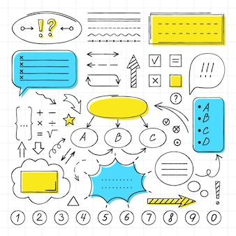 Pacote de elementos infográficos para aulas na escola