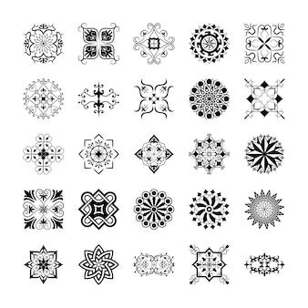 Pacote de elementos ornamentais