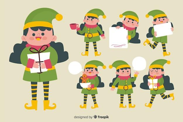 Pacote de elfos de natal agradável