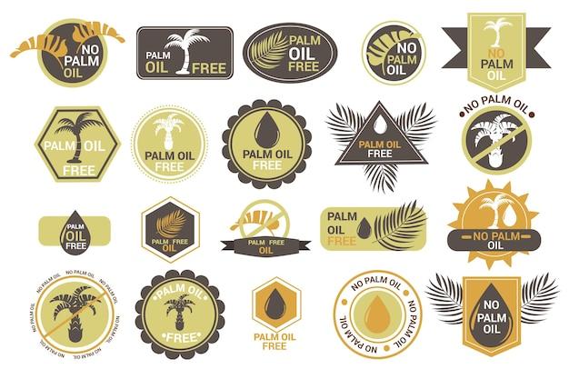 Pacote de emblemas criativos de óleo de palma