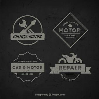 Pacote de emblemas da motocicleta do vintage