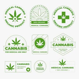 Pacote de emblemas de cannabis medicinal
