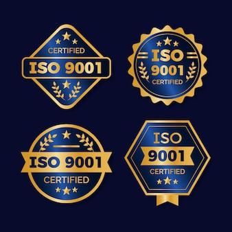 Pacote de emblemas de certificação iso