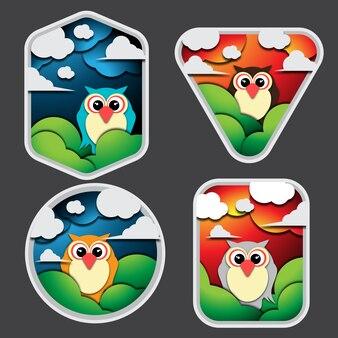 Pacote de emblemas de coruja