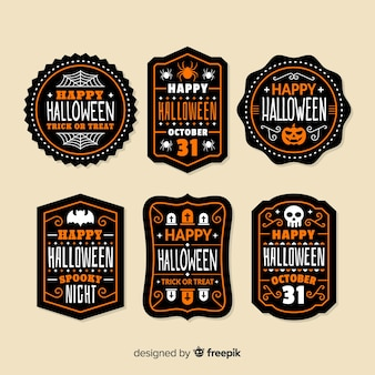 Pacote de emblemas de halloween
