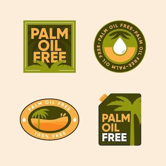 Pacote de emblemas de óleo de palma plana