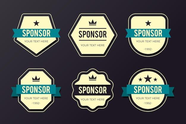 Pacote de emblemas de patrocínio criativo