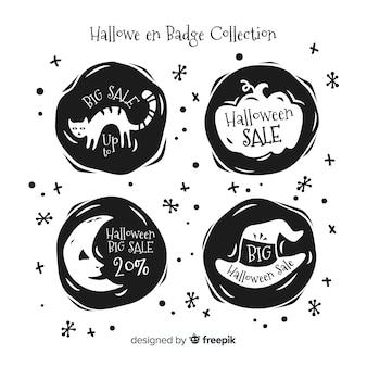 Pacote de emblemas de venda de dia das bruxas