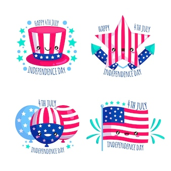 Pacote de emblemas do dia da independência