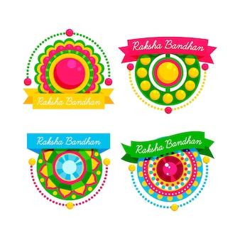 Pacote de emblemas raksha bandhan