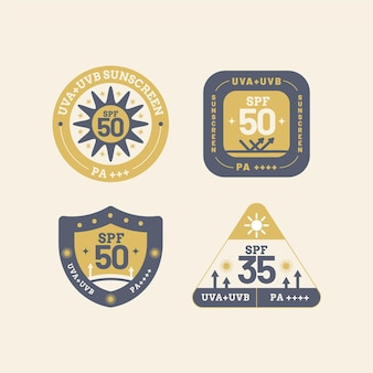Pacote de emblemas uv planos orgânicos