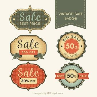 Pacote de emblemas venda no estilo retro