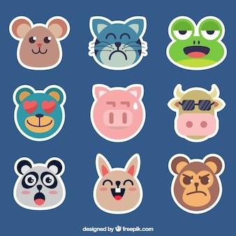 Pacote de emoticons de animais