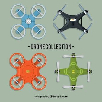 Pacote de entrega com drones modernos
