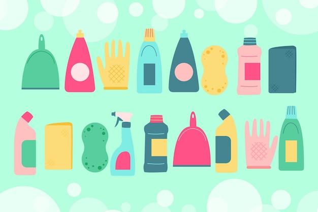 Pacote de equipamentos de limpeza