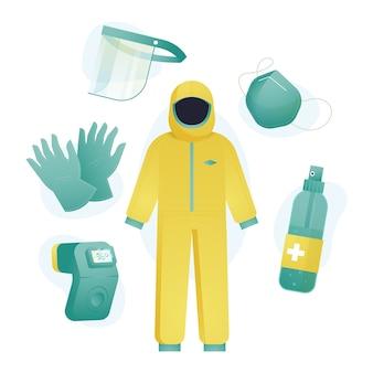 Pacote de equipamentos de proteção