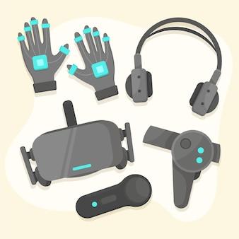 Pacote de equipamentos de realidade virtual