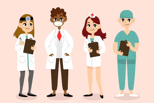 Pacote de equipe profissional de saúde