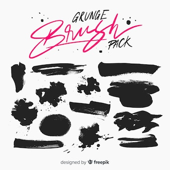 Pacote de escova grunge