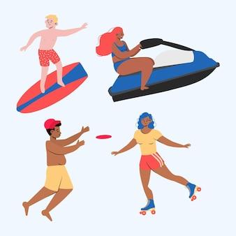 Pacote de esportes de verão