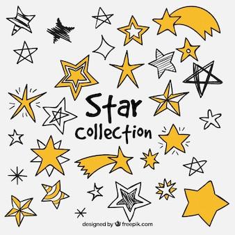 Pacote de estrelas de diferentes tipos