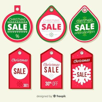 Pacote de etiqueta de venda de natal