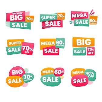 Pacote de etiqueta de vendas minimalista