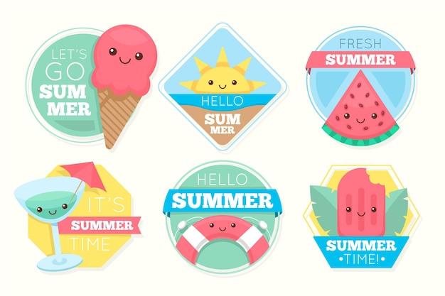 Pacote de etiqueta de verão