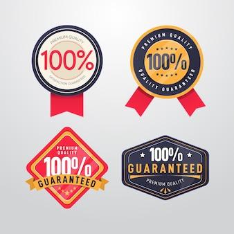Pacote de etiquetas com garantia de cem por cento