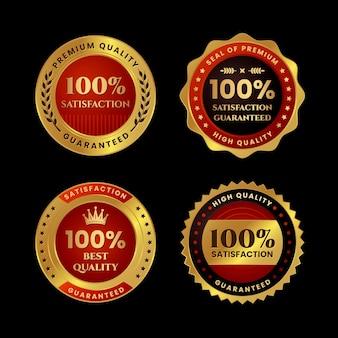 Pacote de etiquetas de cem por cento de garantia