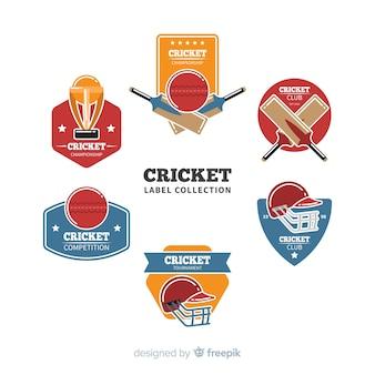 Pacote de etiquetas de críquete