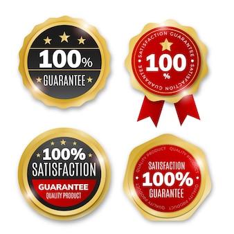 Pacote de etiquetas de garantia cem por cento